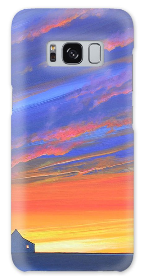 Sunset Galaxy S8 Case featuring the painting The Aunt's House by Hunter Jay