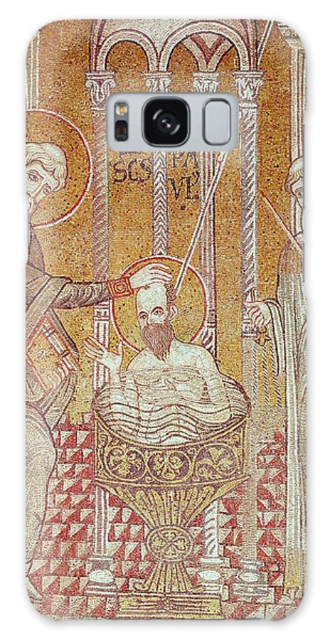 Damascus Galaxy S8 Case featuring the photograph The Baptism Of St. Paul By Ananias, From Scenes From The Life Of St. Paul Mosaic by Byzantine School