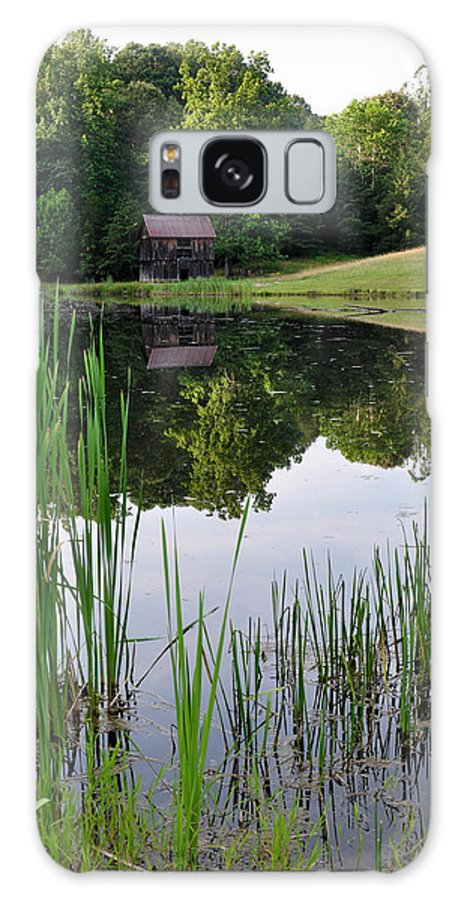 Nature Galaxy S8 Case featuring the photograph The Barn Across The Pond by Sherri Quick