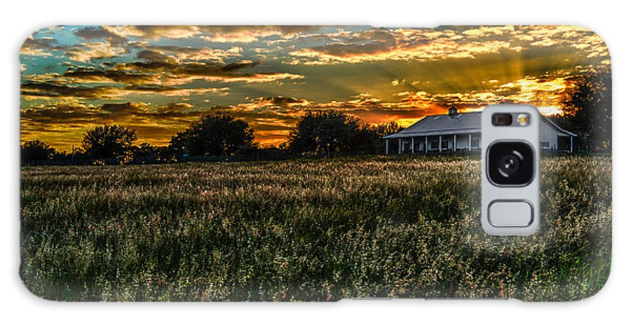 Barn Galaxy S8 Case featuring the photograph The Barn At Sunset by Scott Mullin
