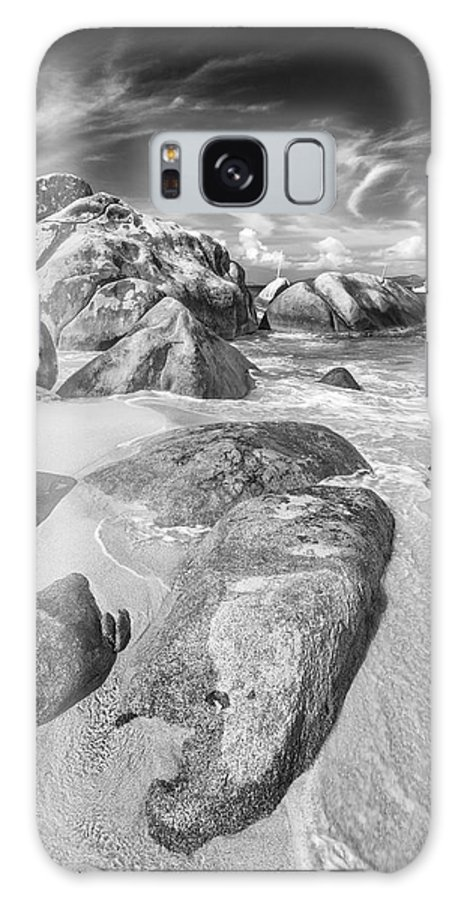 3scape Galaxy Case featuring the photograph The Baths In Black And White by Adam Romanowicz