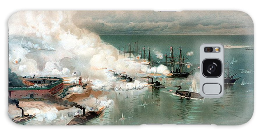 Civil War Galaxy S8 Case featuring the painting The Battle Of Mobile Bay by War Is Hell Store