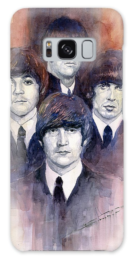 Watercolor Galaxy Case featuring the painting The Beatles 02 by Yuriy Shevchuk