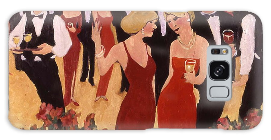 Wine Galaxy S8 Case featuring the painting The Beautiful People by Carole Katchen