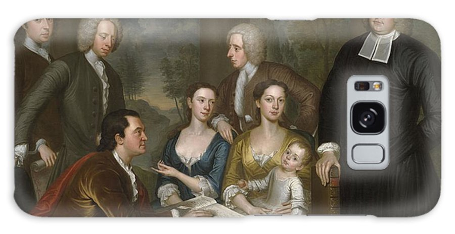 Bermuda Group Galaxy S8 Case featuring the painting The Bermuda Group, Dean Berkeley And His Entourage, 1728 by John Smibert