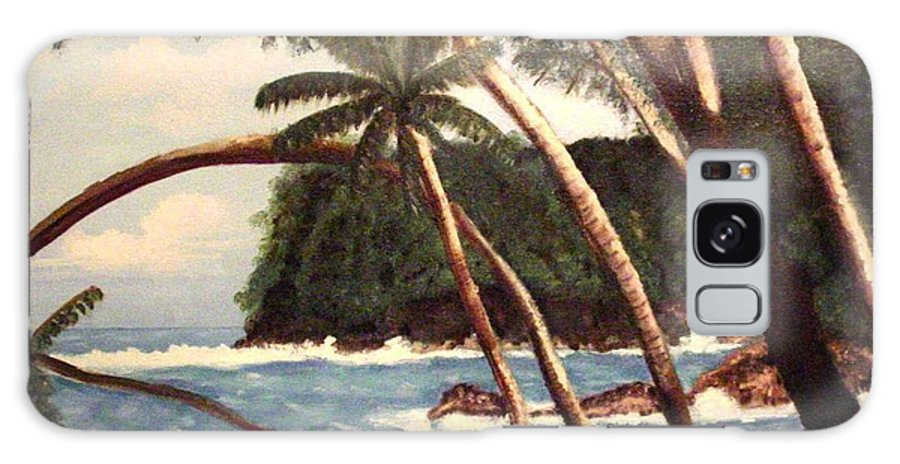 Hawaii Galaxy S8 Case featuring the painting The Big Island by Laurie Morgan