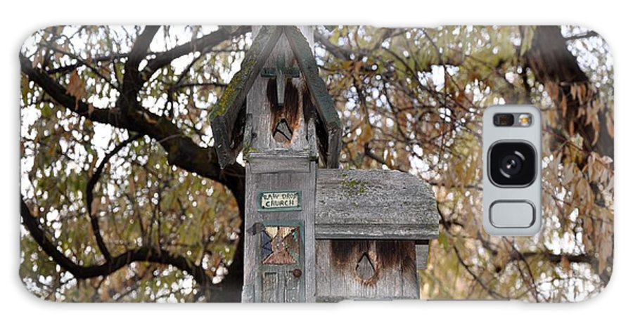 Melba; Idaho; Birdhouse; Shelter; Outdoor; Fall; Autumn; Leaves; Plant; Vegetation; Land; Landscape; Tree; Branch; House; Galaxy S8 Case featuring the photograph The Birdhouse Kingdom - Black-headed Grosbeak by Image Takers Photography LLC - Carol Haddon