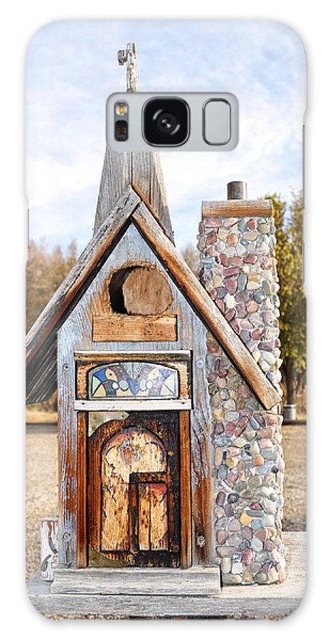 Melba; Idaho; Birdhouse; Shelter; Outdoor; Fall; Autumn; Leaves; Plant; Vegetation; Land; Landscape; Tree; Branch; House; Cross; Galaxy S8 Case featuring the photograph The Birdhouse Kingdom - The American Coot by Image Takers Photography LLC - Carol Haddon