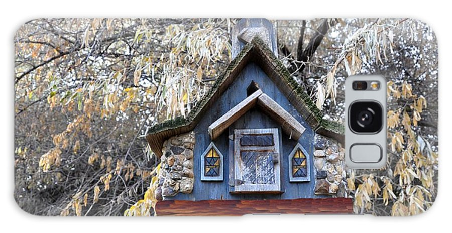 Melba; Idaho; Birdhouse; Shelter; Outdoor; Fall; Autumn; Leaves; Plant; Vegetation; Land; Landscape; Tree; Branch; House; Galaxy S8 Case featuring the photograph The Birdhouse Kingdom - The Cordilleran Flycatcher by Image Takers Photography LLC - Carol Haddon