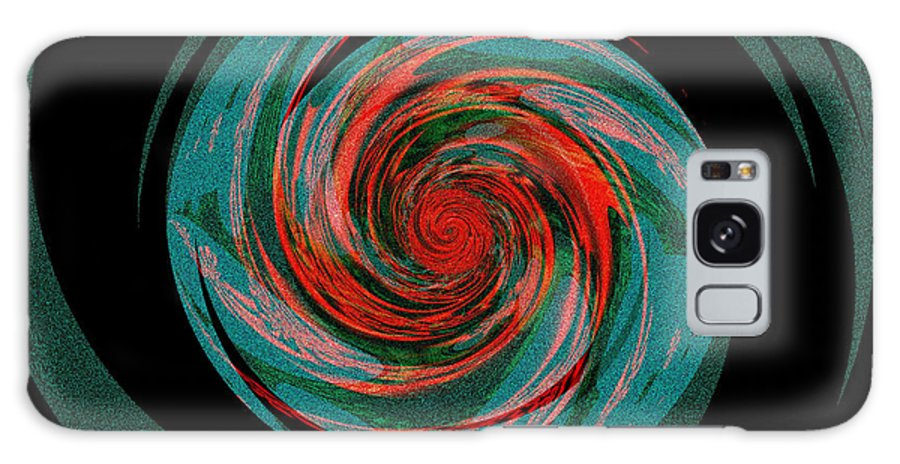 Fractal Art Galaxy S8 Case featuring the digital art The Black Hole That Is The Big Skip by Elizabeth McTaggart
