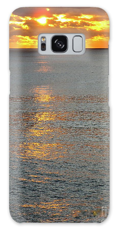 Sunset Galaxy S8 Case featuring the photograph The Black Sea In A Swath Of Gold by Phyllis Kaltenbach