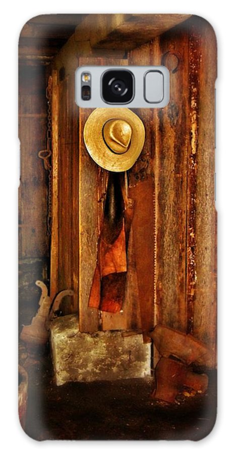 Blacksmith Galaxy S8 Case featuring the photograph The Blacksmith's Hat by Jean Goodwin Brooks