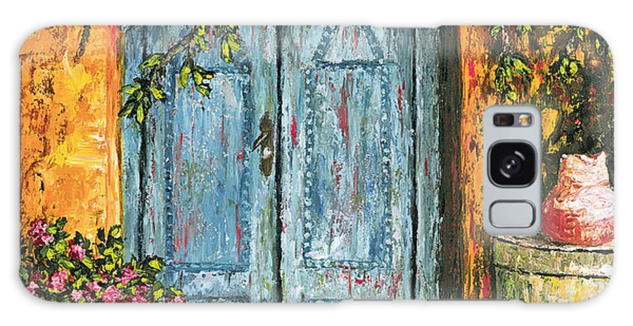 Door Galaxy S8 Case featuring the painting The Blue Door by Darice Machel McGuire