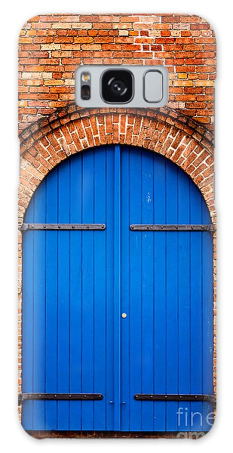 Door Galaxy S8 Case featuring the photograph The Blue Door by Mary Smyth