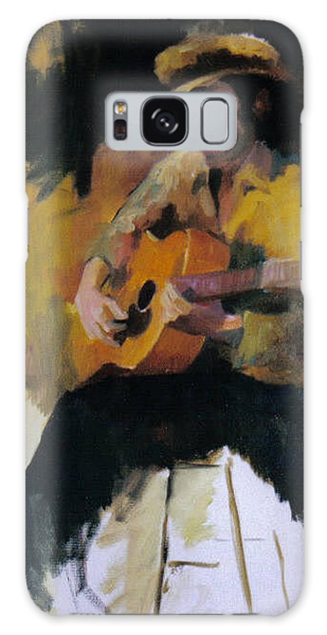 Man Galaxy S8 Case featuring the painting The Blues Man by John L Campbell