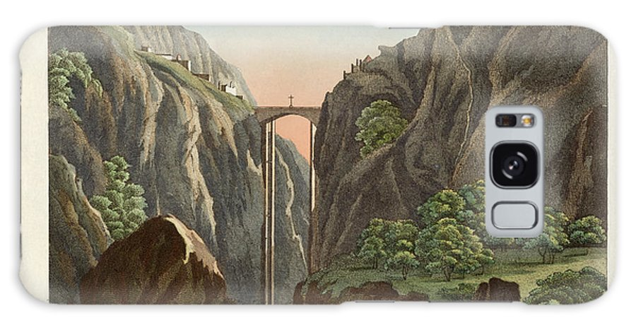 Bertuch Galaxy S8 Case featuring the drawing The Bridge To Ronda by Splendid Art Prints
