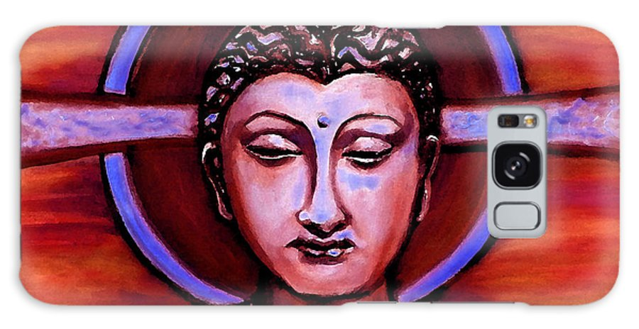 The Buddha Galaxy S8 Case featuring the painting The Buddha In Red And Gold by Art by Kar