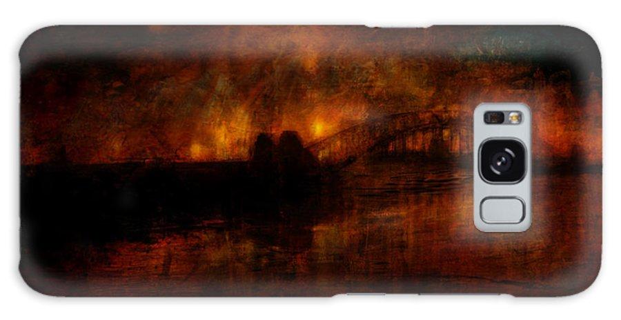 William Galaxy S8 Case featuring the digital art The Burning Of Sydney by Kim Gauge