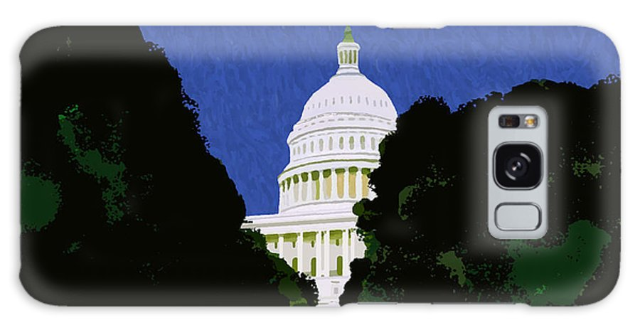 Capitol Galaxy Case featuring the painting The Capitol by Pharris Art