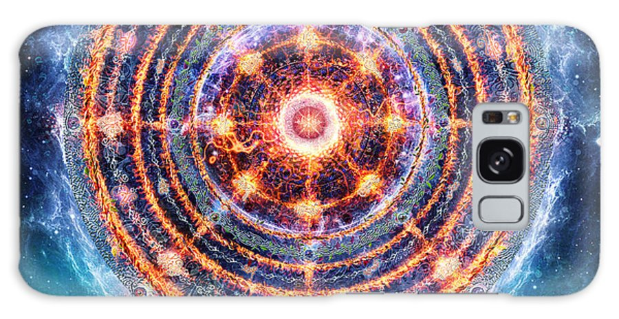 Cameron Gray Galaxy Case featuring the digital art The Catalyst Fire by Cameron Gray