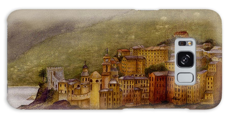 Towns In Northern Italy Galaxy Case featuring the painting The Charming Town Of Camogli Italy by Nan Wright