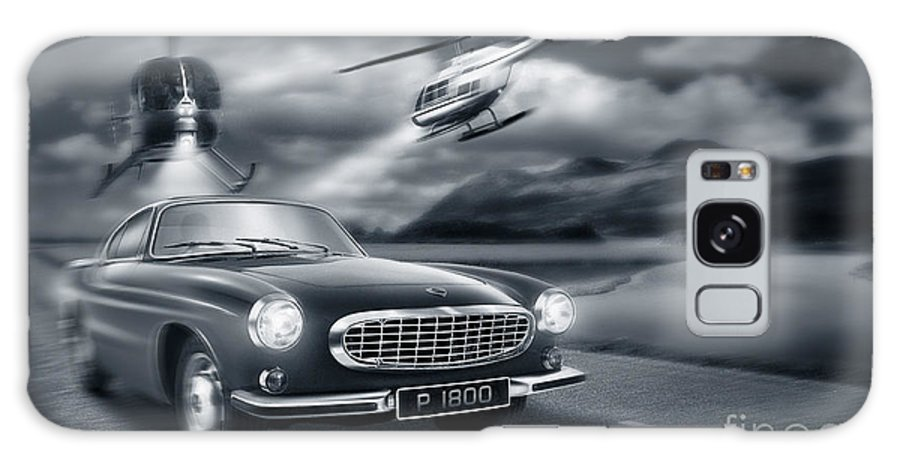 Volvo P1800 Galaxy S8 Case featuring the digital art The Chase 2 by Linton Hart