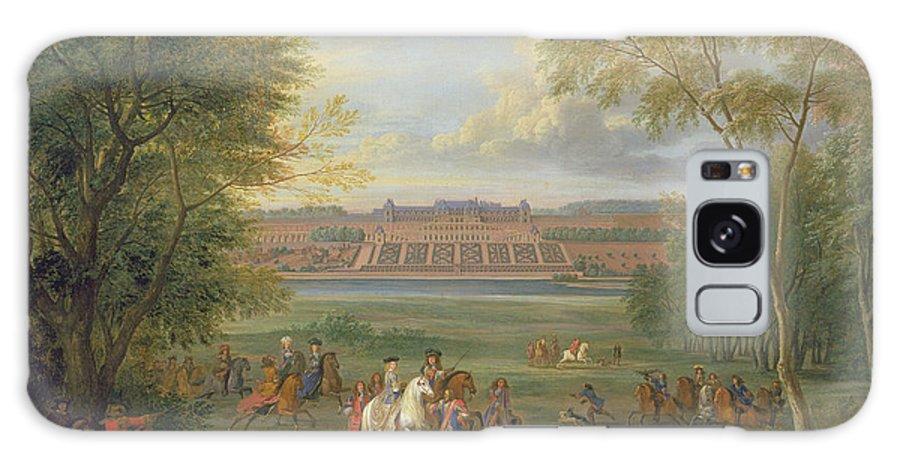 Schloss Von San-germain Galaxy S8 Case featuring the photograph The Chateau Of Saint Germain Oil On Canvas by Adam Frans van der Meulen