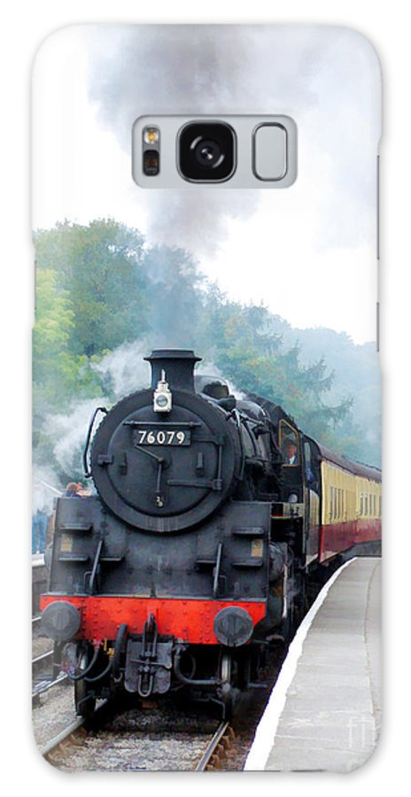 Goathland Galaxy S8 Case featuring the photograph The Climb Into Goathland Station by Tess Baxter