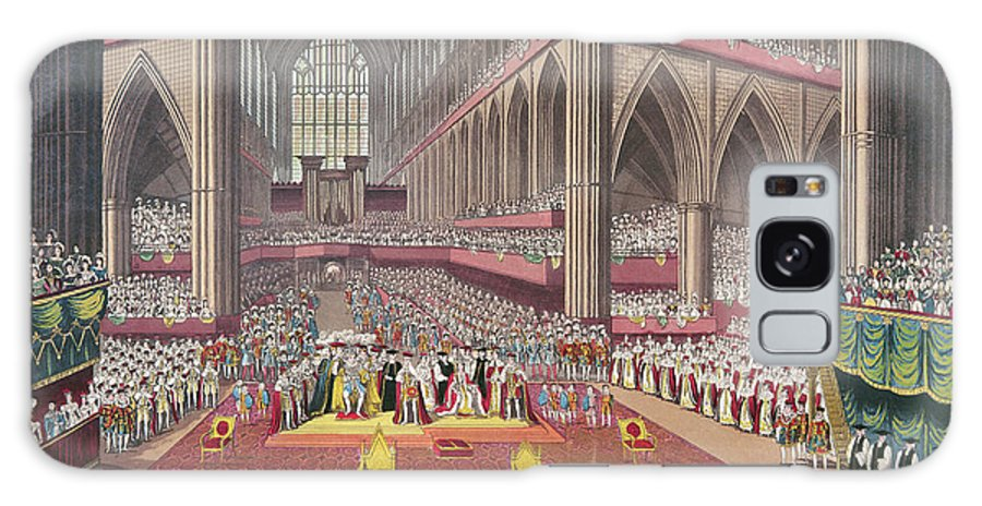 Interior Galaxy S8 Case featuring the photograph The Coronation Of King William Iv And Queen Adelaide, 1831 Colour Litho by English School