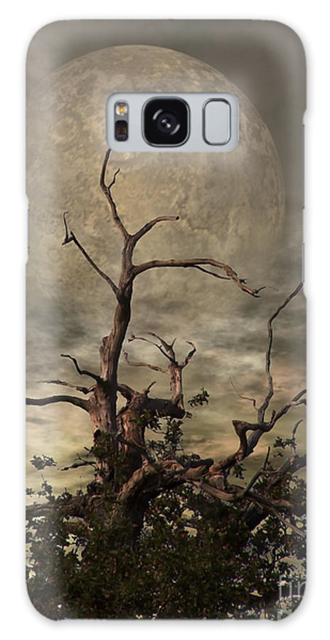 Crow Galaxy S8 Case featuring the digital art The Crow Tree by Abbie Shores