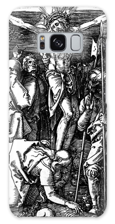 Jesus Galaxy S8 Case featuring the drawing The Crucifixion by Albrecht Durer