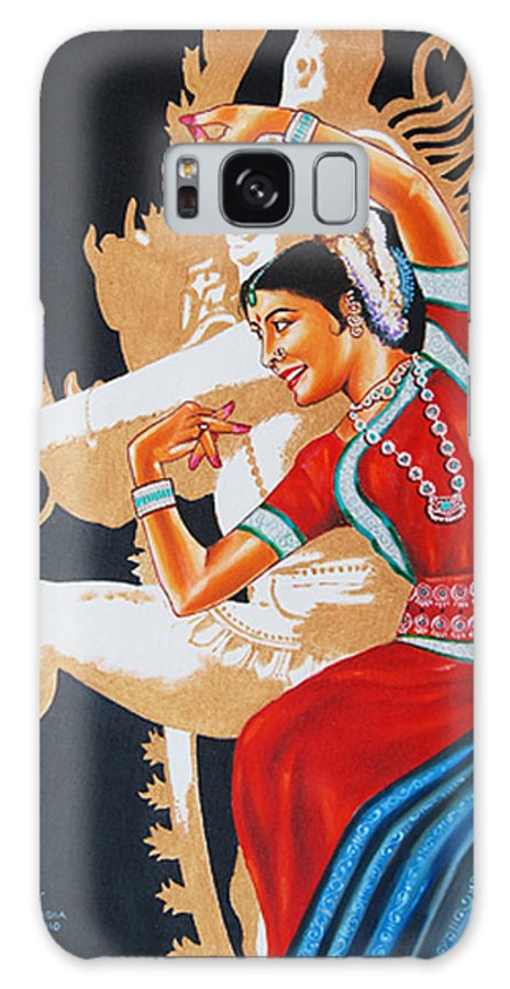 Odissi- India Galaxy S8 Case featuring the painting The Dance Divine Of Odissi by Ragunath Venkatraman