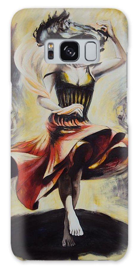Dance Galaxy S8 Case featuring the painting The Dance Of The Tarantula.. by Alessandra Andrisani