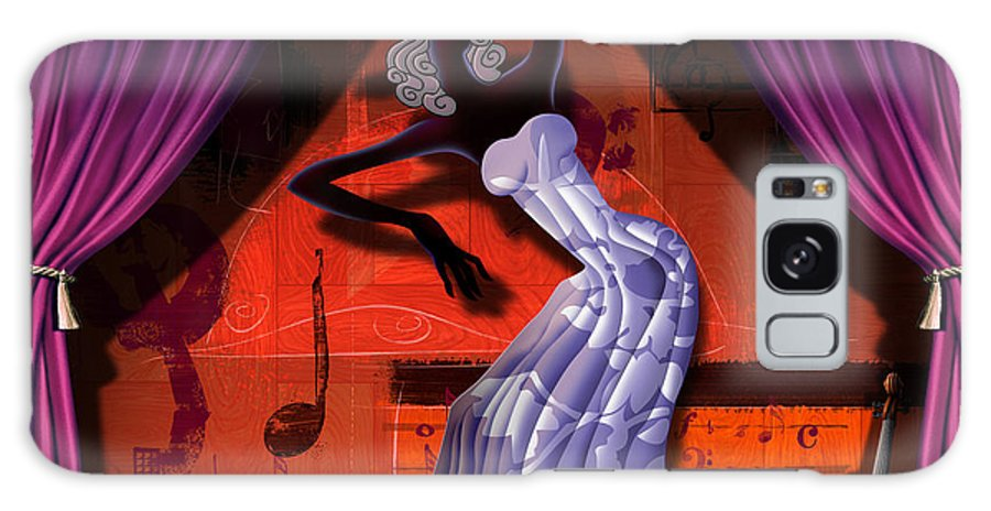 Dancer Galaxy S8 Case featuring the digital art The Dancer V2 by Peter Awax