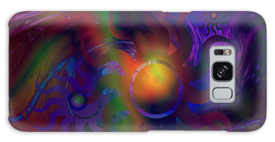 Nature Galaxy S8 Case featuring the digital art The Dancing Suns by Jimi Bush