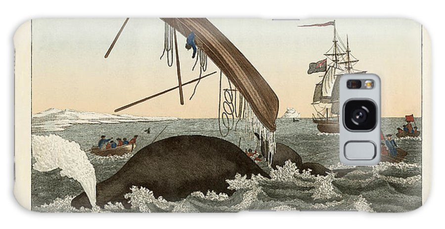 Bertuch Galaxy S8 Case featuring the drawing The Dangers Of Whale Fishing by Splendid Art Prints
