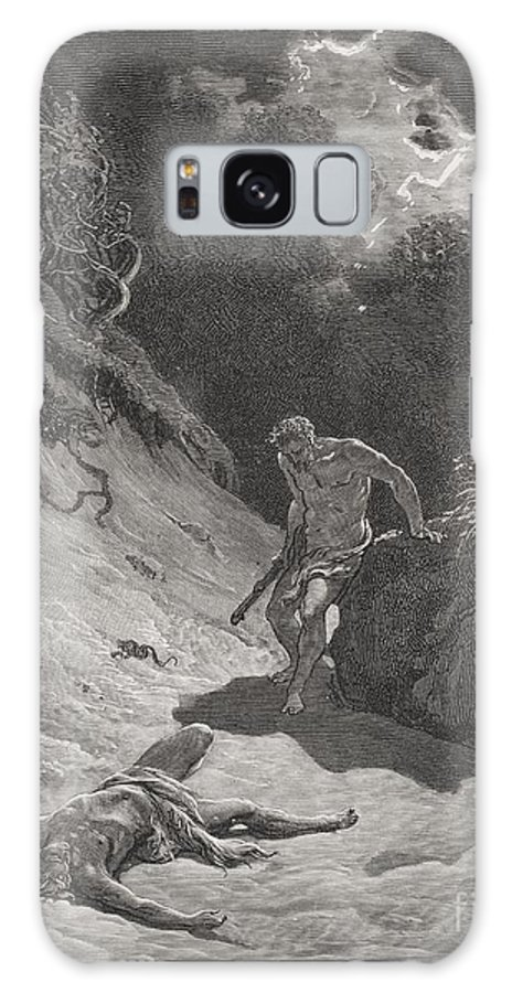 Cain Galaxy S8 Case featuring the painting The Death Of Abel by Gustave Dore