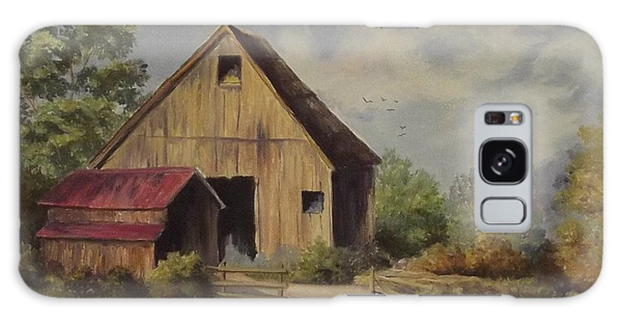 Landscape Galaxy S8 Case featuring the painting The Deserted Barn by Wanda Dansereau