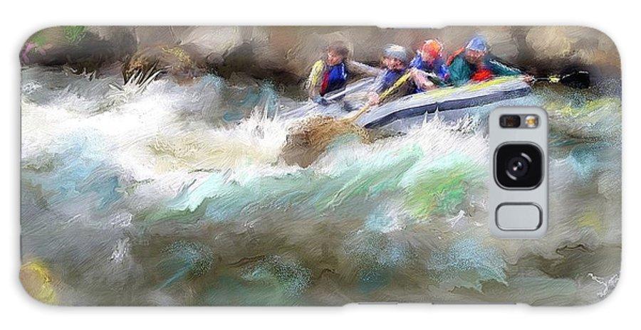 River Galaxy S8 Case featuring the digital art The Deshka River Alaska by Donna Martin