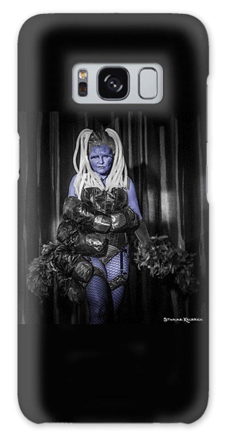 Portrait Galaxy S8 Case featuring the photograph The Diva Blue by Stwayne Keubrick