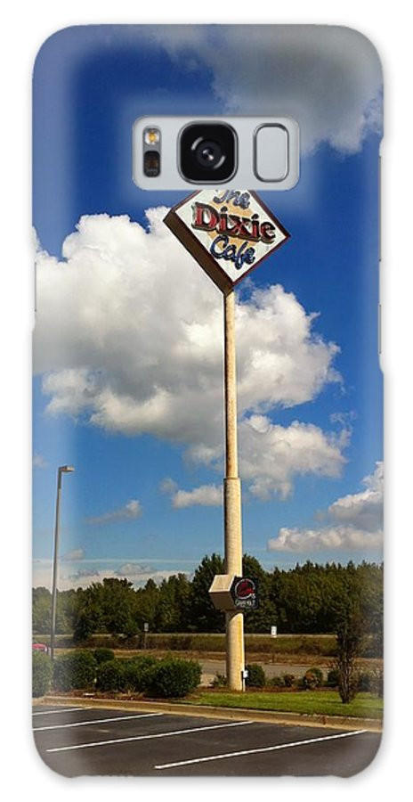 Signs Galaxy S8 Case featuring the photograph The Dixie Cafe Sign by Melissa Driver
