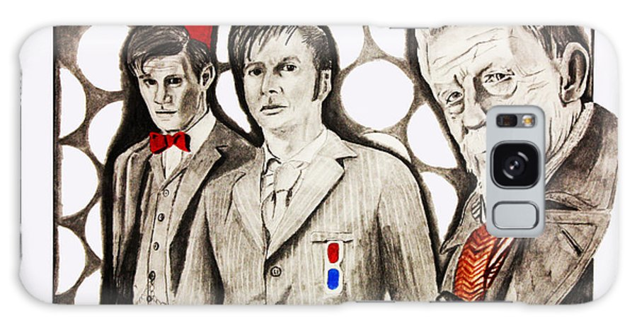 David Tennant Galaxy S8 Case featuring the drawing The Doctors by Nick Vogt