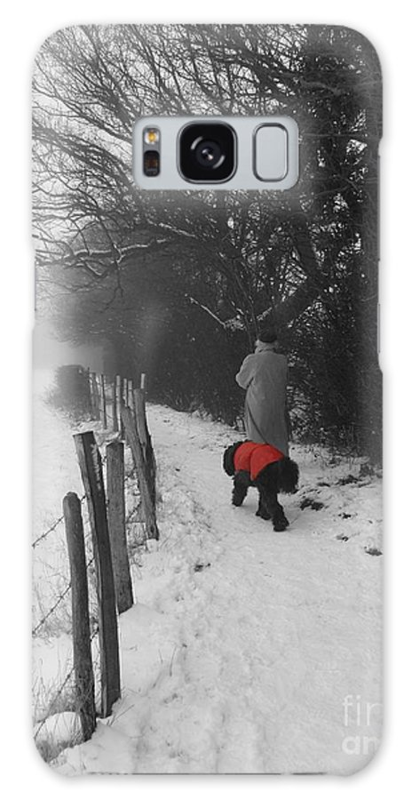 Dog Galaxy S8 Case featuring the photograph The Dog In The Red Coat by Vicki Spindler