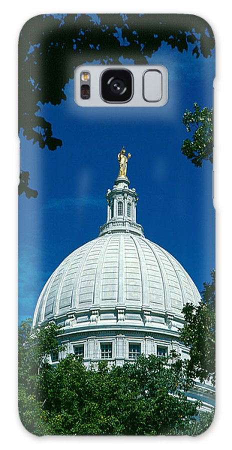 Wisconsin State Capitol Galaxy S8 Case featuring the photograph The Dome Of The Wisconsin State Capitol by Janice Adomeit