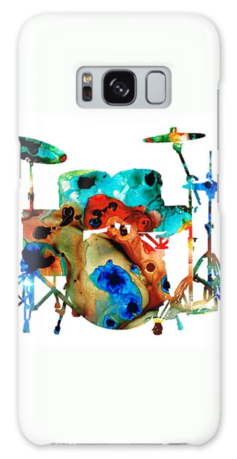Drum Galaxy Case featuring the painting The Drums - Music Art By Sharon Cummings by Sharon Cummings