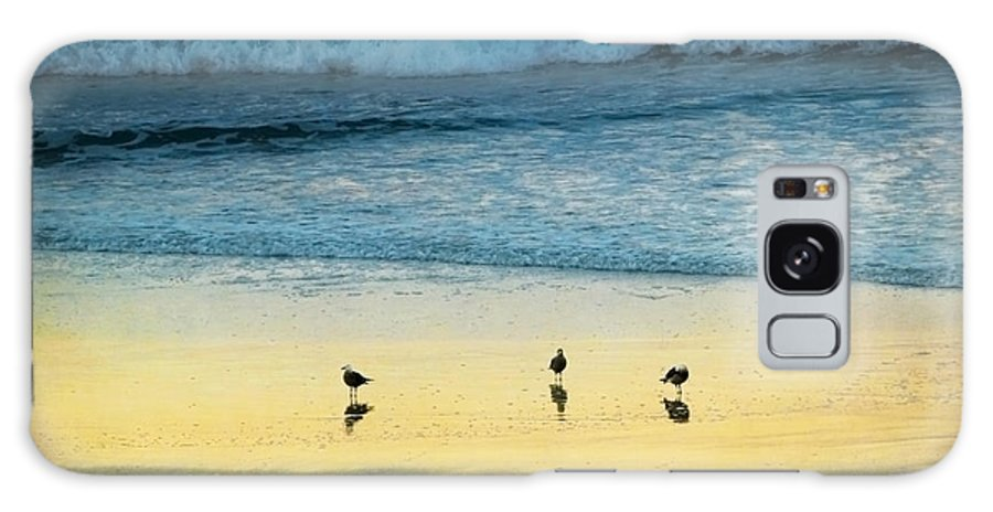 Coastal Galaxy S8 Case featuring the photograph The Early Birds by Ellen Cotton