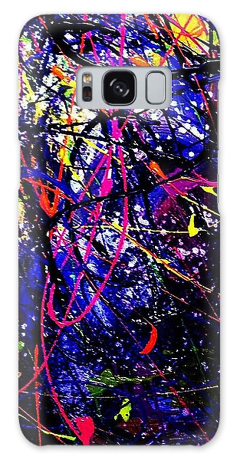 On The Edge Galaxy S8 Case featuring the painting The Edge Of Darkness by Patti Shonek