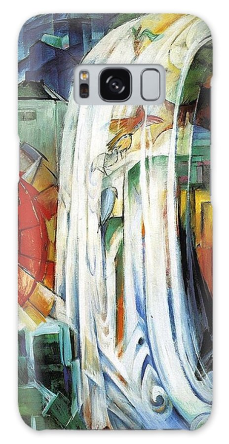 Franz Galaxy S8 Case featuring the painting The Enchanted Mill by Franz Marc