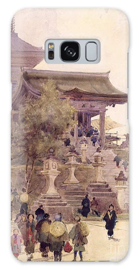 Kimono; Pagoda Galaxy S8 Case featuring the painting The Entrance To The Temple Of Kiyomizu Dera Kyoto by Sir Alfred East