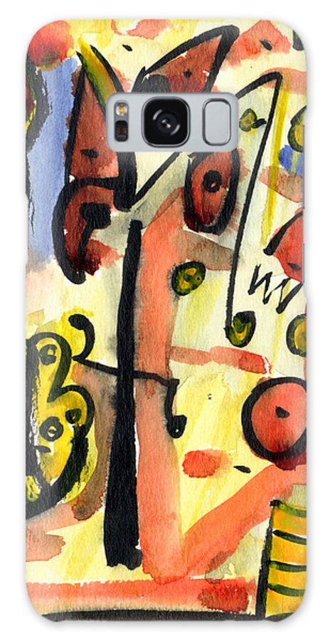 Abstract Art Galaxy S8 Case featuring the painting The Equation by Stephen Lucas